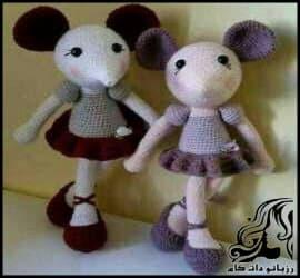 عروسک بافی و آموزش گام به گام بافت عروسک موش