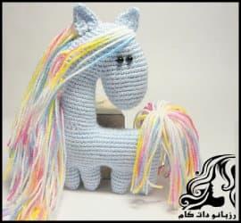 عروسک بافی و آموزش بافت عروسک اسب کوچولو