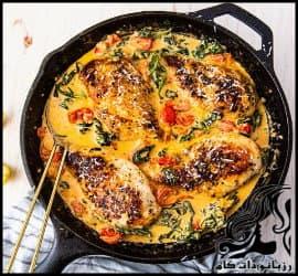 آشپزی و طرز تهیه مرغ خامه ای توسکانی