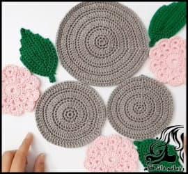 بافتنی و آموزش بافت رانر یا رومیزی خاص و زیبا (بافت گل و برگ)