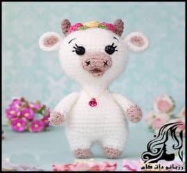 بافتنی و آموزش بافت عروسک گاو کوچولو