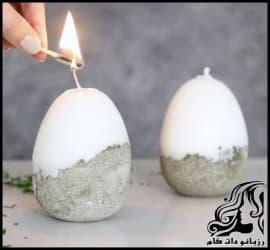 شمع سازی آموزش ساخت شمع تخم مرغی