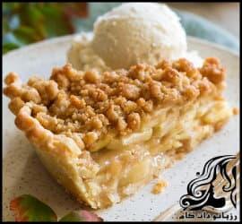 آشپزی و طرز تهیه کیک سیب هلندی