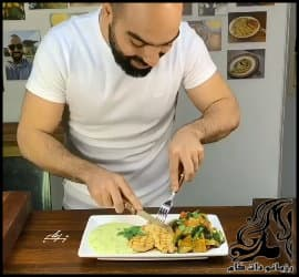 آشپزی و طرز تهیه بشقاب مرغ و سبزیجات