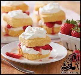 آشپزی و طرز تهیه شورت کیک توت فرنگی