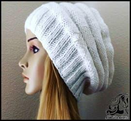 بافتنی و آموزش بافت کلاه بافتنی بدونِ درز زنانه و دخترانه