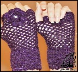 بافتنی و آموزش بافت دستکش بدون انگشت زنانه