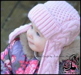 بافتنی و آموزش بافت کلاه اسپرت کودک